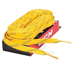 Sznurówki woskowane do łyżew Hokejowych CCM 330cm (żółte)